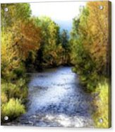 Autumn Harvest Along The River Acrylic Print