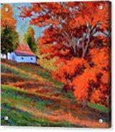 Autumn Hillside Acrylic Print
