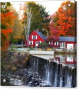 Autumn House At The Falls Acrylic Print