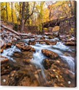 Autumn In American Fork Canyon Acrylic Print