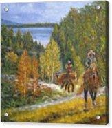 Autumn In Big Bear, 18x24, Oil, '08 Acrylic Print
