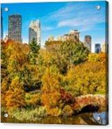 Autumn In Central Park 2 Acrylic Print