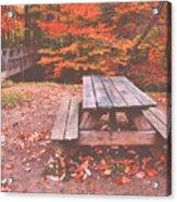 Autumn In High Bridge Acrylic Print