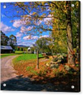 Autumn In Montpelier Acrylic Print
