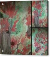 Autumn In My Soul Triptych Acrylic Print