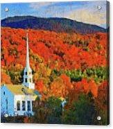 Autumn In New England - 04 Acrylic Print