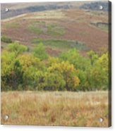 Autumn In Slope County Acrylic Print