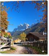 Autumn In South Tyrol Acrylic Print