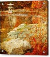 Autumn In The Gardens Acrylic Print