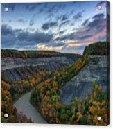 Autumn In The Gorge Acrylic Print