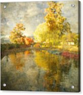Autumn In The Pond Acrylic Print