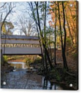 Autumn In Valley Forge - Knox Covered Bridge Acrylic Print