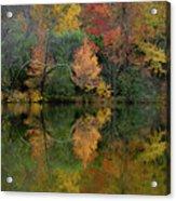 Autumn Lagoon Reflection  Acrylic Print
