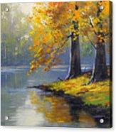 Autumn Lake Print Acrylic Print