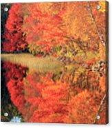 Autumn Lake Scenery Acrylic Print