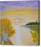 Autumn Lake Sunset  Acrylic Print