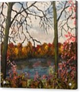 Autumn Lake View Acrylic Print