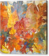 autumn Leaves Collage III Acrylic Print