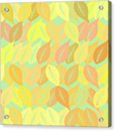 Autumn Leaves Pattern Acrylic Print