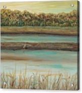 Autumn Marsh And Bird Acrylic Print