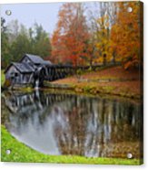 Autumn Mill Acrylic Print