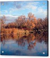 Autumn Mirror Acrylic Print