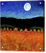 Autumn Moon I Acrylic Print