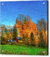 Autumn Moon Rising Acrylic Print