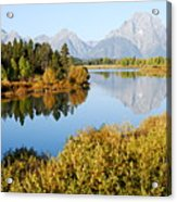 Autumn Morning At Oxbow Bend Acrylic Print