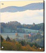 Autumn Morning In Peacham Vermont Acrylic Print
