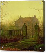 Autumn Morning Acrylic Print by John Atkinson Grimshaw