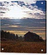 Autumn Morning On The Fields Acrylic Print