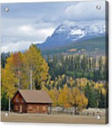 Autumn Mountain Cabin In Glacier Park Acrylic Print