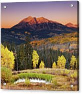 Autumn Mountain Landscape, Colorado, Usa Acrylic Print