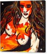 Autumn Nude Acrylic Print