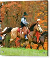 Autumn On Horseback Acrylic Print
