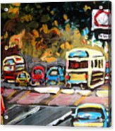 Autumn On The Boulevard Acrylic Print