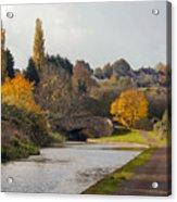 Autumn On The Canal Acrylic Print