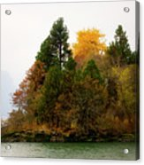 Autumn On The Columbia Acrylic Print