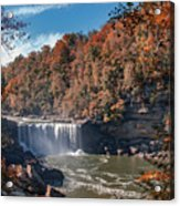 Autumn On The Cumberland  Cumberland Falls Acrylic Print