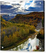 Autumn On The Genesee Acrylic Print