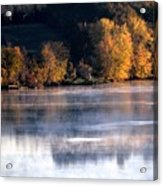 Autumn On Wisconsin River Acrylic Print