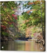 Autumn Over Golden Waters Acrylic Print