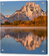 Autumn Oxbow Bend Reflections Acrylic Print