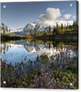Autumn Picture Lake M114 Acrylic Print
