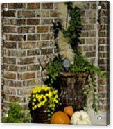Autumn Porch Scene Acrylic Print