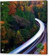 Autumn Rails Acrylic Print