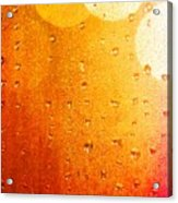 Autumn Raindrops Acrylic Print