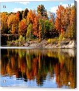Autumn Reflected Acrylic Print