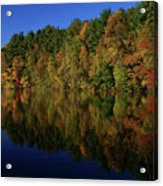 Autumn Reflection Of Colors Acrylic Print